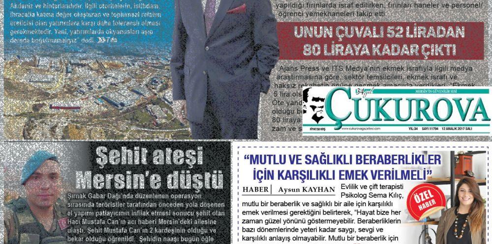 Psk. Sema KILIÇ - Mersin Çukurova Gazetesi